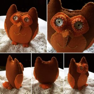 Brown and Orange Owl